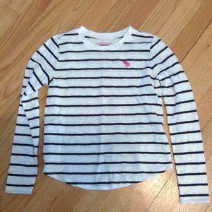 Girls Abercrombie kids Long Sleeve Stripped Shirt